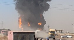 Gas tanker blast at Afghan-Iran border in pictures