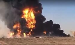 افغانستان اور ایران بارڈر پر آگ لگنے سے کئي آئل ٹینکرز تباہ ہوگئے ہیں