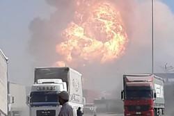 """الجمارك الإيرانية تشرح تفاصيل حريق """"دوغارون"""" الذي شبّ في موقف للسيارات"""
