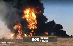 پرتاب تانکر به هوا در انفجار گمرک مرزی