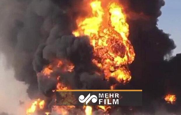 VIDEO: Aftermath of gas tanker blast in Afghan-Iran border