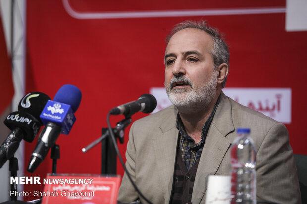 حضور محمدرضا کریمی صارمی معاون تولید کانون پرورش فکری در نشست خبری  ششمین جشنواره اسباب بازی