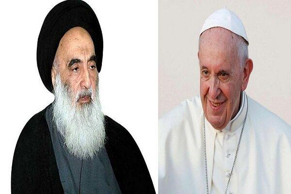 """البابا والسيستاني سيوقعان وثيقة """"الاخوة الإنسانية"""""""