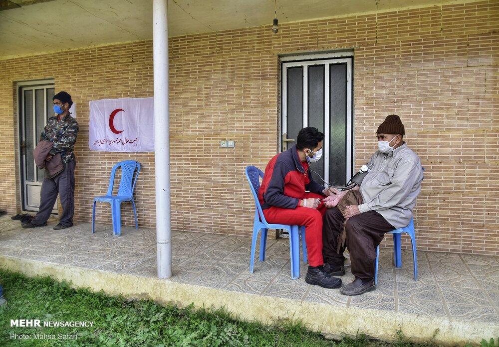 کاروان سلامت هلال احمر در روستاهای مرزی گلستان
