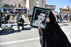 تشییع پیکر مطهر یک شهید گمنام در اصفهان