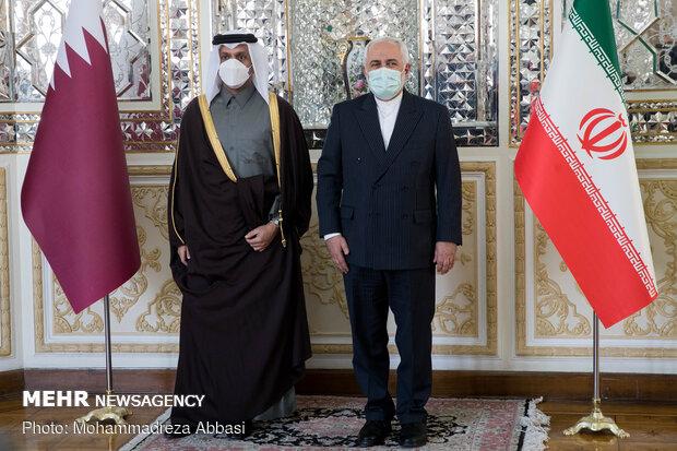 Zarif Tahran'da Katarlı mevkidaşı ile görüştü