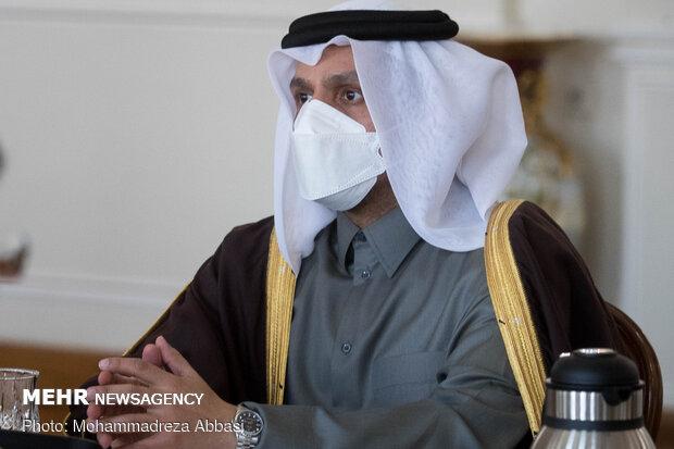Iranian FM hold talks with Qatari counterpart