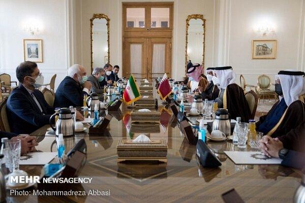 Iran, Qatar discuss bilateral relations, regional coop.