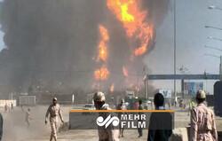 لحظه وحشتناک انفجار در گمرک اسلام قلعه