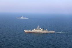 ناوهای ایران و روسیه به سمت اهداف دریایی تیراندازی کردند