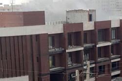 ساختمان نیمهکاره شورای شهر «نسیم شهر» آتش گرفت