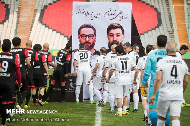 Veteran footballers play in remembrance of Minavand, Ansarian