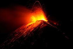فوران شبانه آتشفشان اتنا