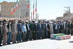 زاہدان میں امام زمانہ (عج) کے دو گمنام سپاہیوں کی تشییع جنازہ
