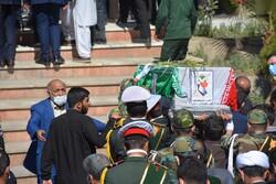 مراسم تشییع ۲ سرباز گمنام امام زمان(عج) در زاهدان