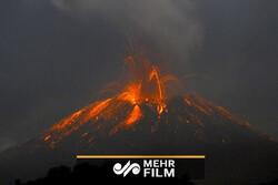 تصاویری دیدنی از گدازه های آتشفشان کوه اتنا در ایتالیا