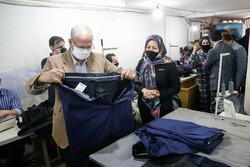 بازدید سخنگوی دولت از کارگاه تولیدی یک بانوی کارآفرین
