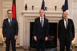 دیدار برجامی وزرای خارجه تروییکای اروپایی و آمریکا
