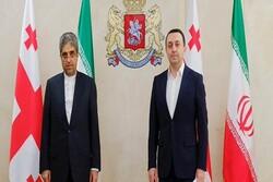السفير الإيراني يجرى محادثات مع وزير الدفاع الجورجي