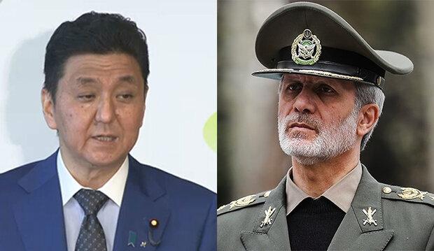 وزير الدفاع يبحث مع نظيره الياباني اغتيال الشهيدين سليماني وفخري زادة