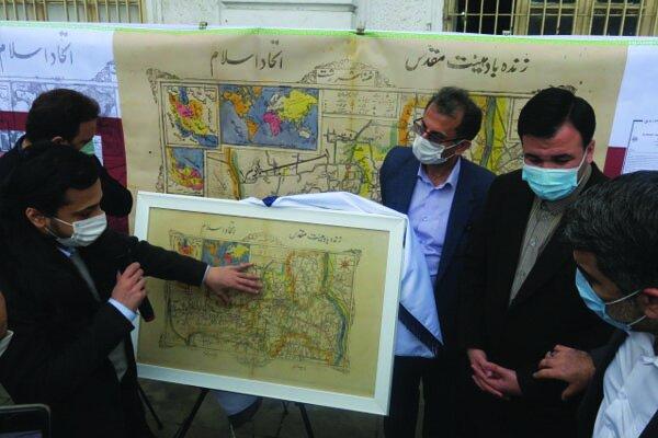 نقشه تاریخی شهر رشت منسوب به «نهضت جنگل» رونمایی شد