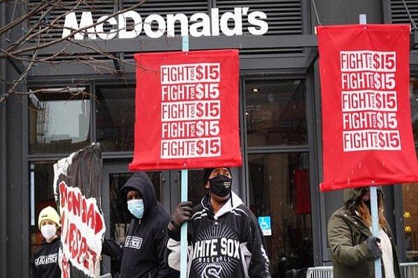 اعتراضات کارگران در ۱۵ شهر آمریکا