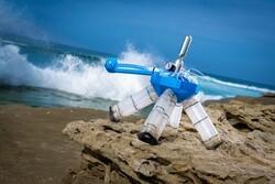 ربات لاک پشتی از باد انرژی حرکتی میگیرد