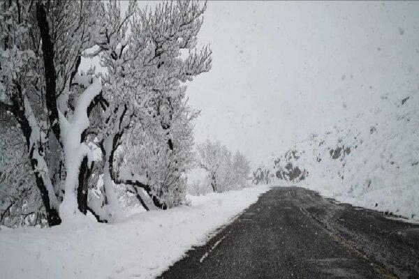بارش اولین برف پاییزی در گردنه گویجهبئل اهر