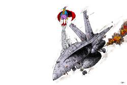 انتشار کارتون جدید مسعود شجاعی طباطبایی با موضوع «افول آمریکا»
