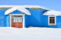 بارش سنگین برف در منطقه سربند استان مرکزی