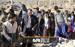 عدلیہ کے سربراہ کا زلزلہ متاثرہ سی سخت علاقہ کا دورہ