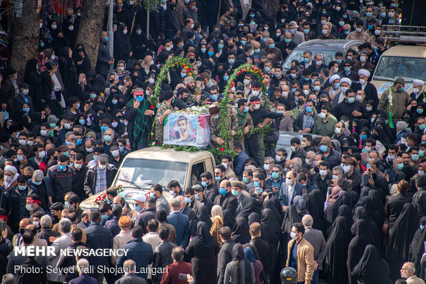 تشیع جنازه شهید مدافع امنیت مصطفی نوروزی ولیکچالی در ساری