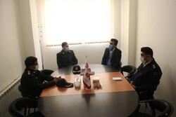 حضور معاون اجتماعی فرماندهی انتظامی کردستان در دفتر خبرگزاری مهر