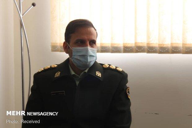 حضور امیر هوشنگ حیدریان معاون اجتماعی فرماندهی انتظامی کردستان در دفتر خبرگزاری مهر