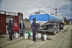 آبرسانی با تانکر به روستای ابراهیم آباد گرگان