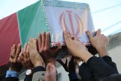 تشییع پیکرهای مطهر ۱۰ شهید دوران دفاع مقدس در مازندران