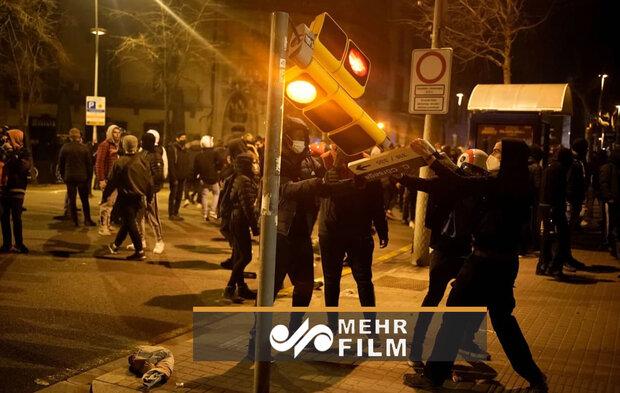 آشوب و درگیری در خیابان های اسپانیا