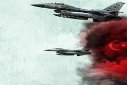 بمباران شدید دهوک از سوی جنگنده های اف۱۶ ترکیه