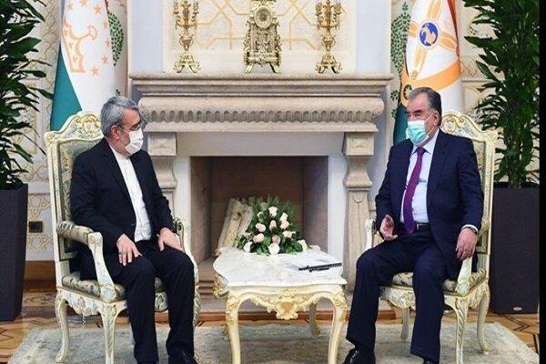 وزير الداخلية الإيراني يجرى حواراً مع الرئيس الطاجيكي في دوشانبي