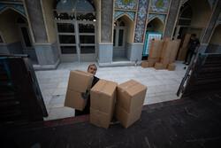 توزیع ۲۰۰ بسته مواد غذایی و پوشاک در بین نیازمندان کرمانشاهی