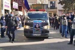 تشییع پیکر شهید مدافع سلامت «فرانک داوودی» در کرج