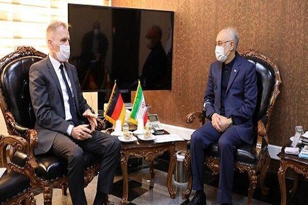 رئيس منظمة الطاقة النووية الايرانية يجرى حواراً مع السفير الألماني