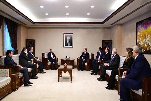فيصل المقداد يجرى محادثات مع الوفد الإيراني في جميع المجالات