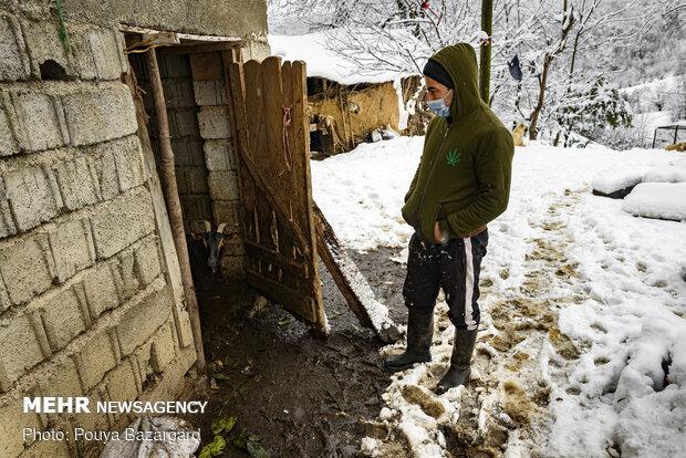 روستای تابستان نشین املش در برف
