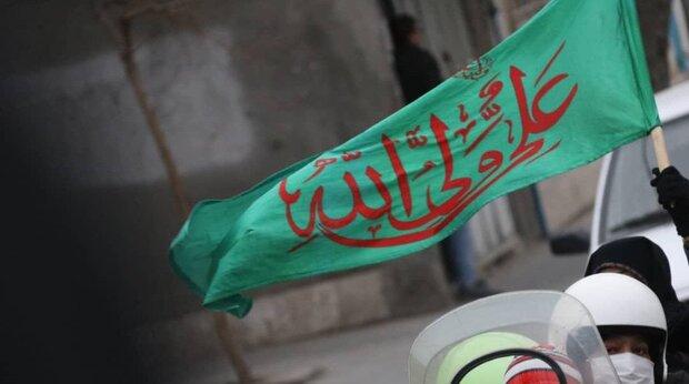 کاروان شادی خودرویی به مناسبت جشن مولود کعبه در مشهد