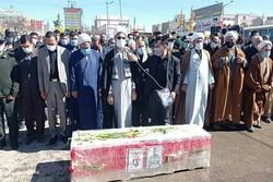 پیکر شهید «مجید رجایی» در فاروج تشییع شد