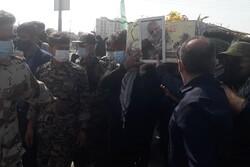 پیکر شهید گمنام دوران دفاع مقدس در برازجان خاکسپاری شد