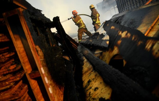 VIDEO: Massive fire erupts in LA's Compton