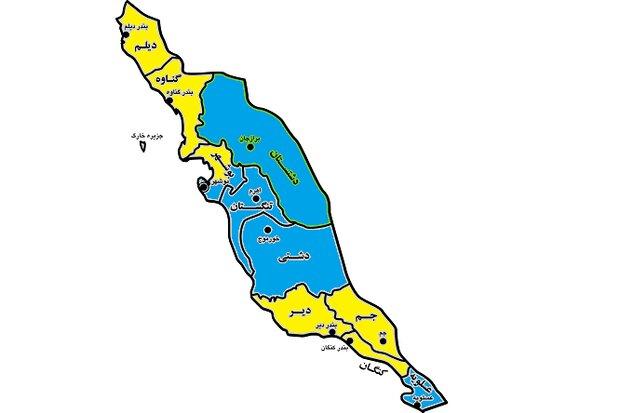 تعداد شهرستانهای زرد کرونایی در استان بوشهر افزایش یافت