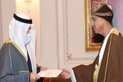 ارسال پیام مکتوب امیر «کویت» به سلطان «عمان»